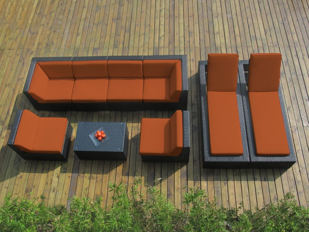 Genuine Ohana Outdoor Sectional Sofa and Chaise Lounge 9Pc