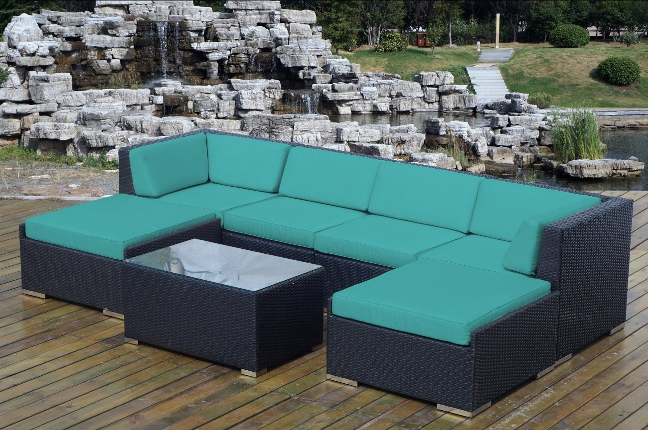Genuine ohana outdoor wicker furniture for Outdoor patio couch set