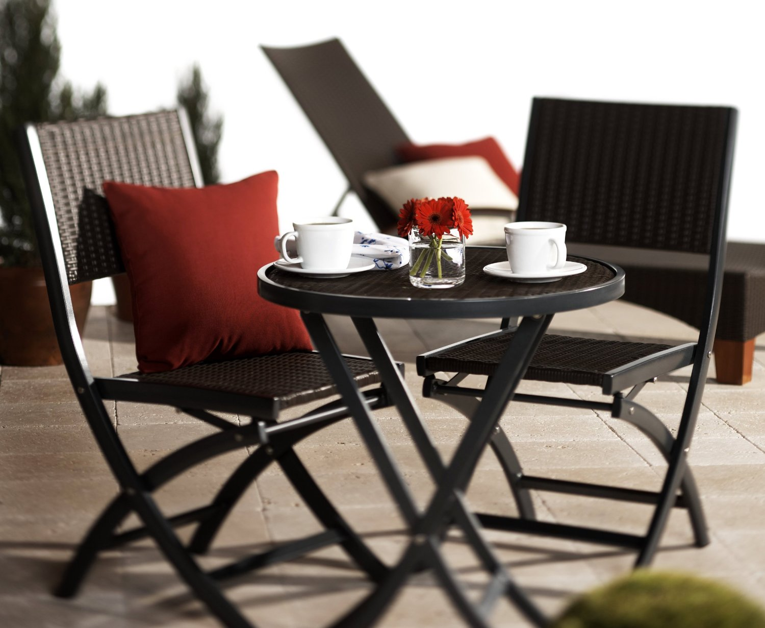 Strathwood Ritta All Weather Wicker 3 Piece Bistro Set