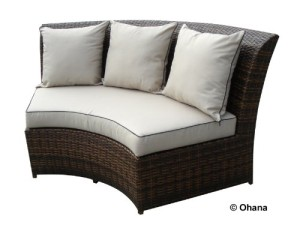 Genuine Ohana Outdoor Patio Wicker Furniture 7pc All Weather Round Couch Set