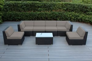 Genuine 16-Piece Ohana Wicker Patio Furniture Set (Outdoor Sectional Sofa and Dining)