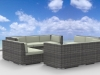 Urban Furnishing - BERMUDA 11pc Modern  Wicker Rattan Patio Furniture Set - Beige