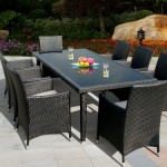 Genuine Amazing Ohana Outdoor Sectional Sofa, Dining and Chaise Lounge Wicker Patio Furniture Set (20PC set)