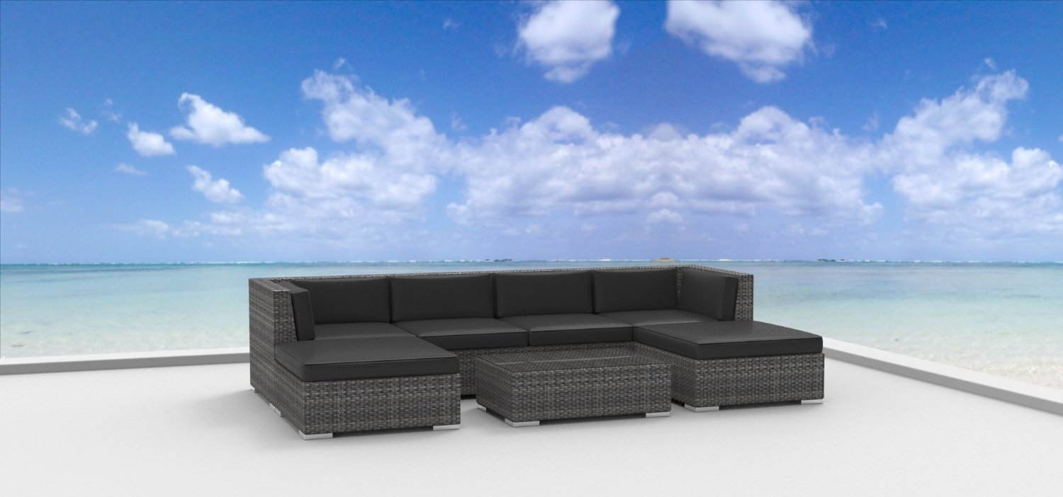Urban Furnishing   MAUI 7pc Modern Wicker Rattan Patio Furniture Set