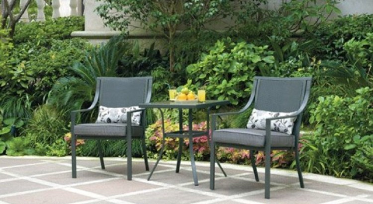 Alexandra Square 3-Piece Outdoor Bistro Set