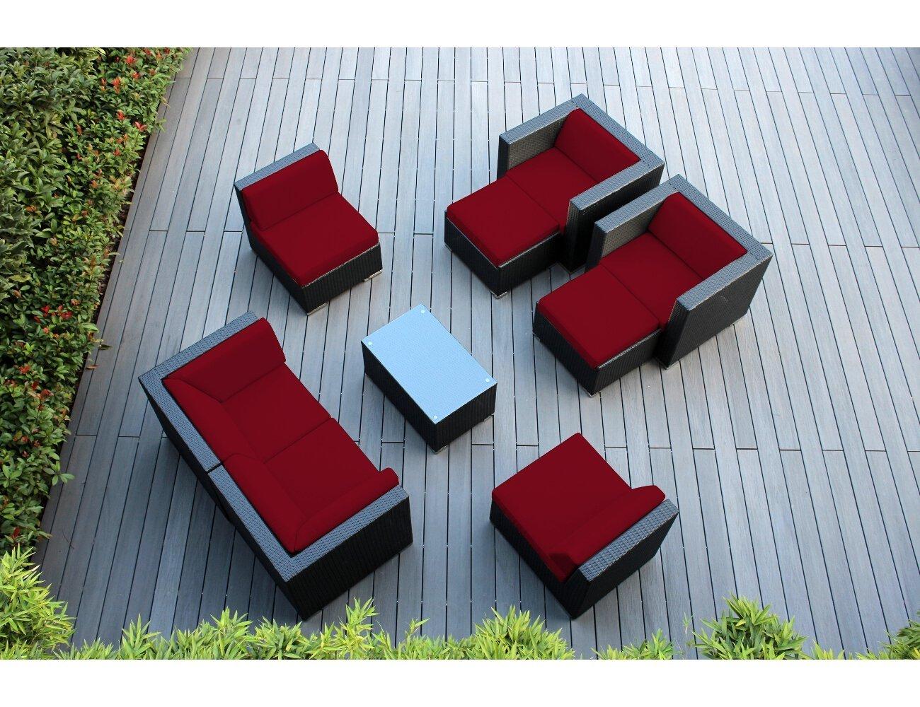 Outdoor Wicker Patio Furniture genuine ohana 9-piece outdoor wicker patio furniture sectional