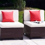 Cloud Mountain 7-Piece Patio PE Rattan Wicker Furniture Set