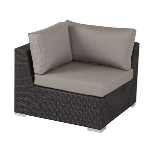 Francisco Outdoor 7-piece Grey Wicker Seating Sectional Set with Sunbrella Cushions