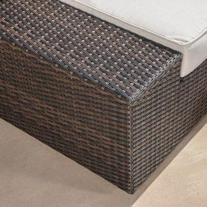 Reddington Outdoor Wicker Patio Furniture Sectional Sofa Set